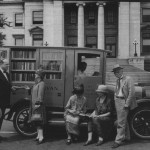 Biblioteca ambulante en Iowa, 1927.