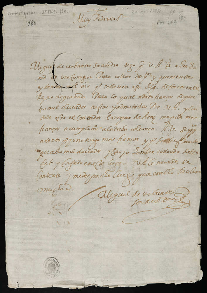 manuscrito cervantes